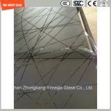 duidelijke de Veiligheid van 419mm en Vlak Patroon/Aangemaakte Neiging/Gehard glas voor het Scherm van de Douche/de Badkamers van de Deur/van de Verdeling met SGCC/Ce&CCC&ISO- Certificaat