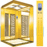 Ascenseur sans engrenages de passager avec la décoration à niveau élevé (YD-O1 F)