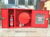 Пожарные шкаф для огнетушителя и шланг опускания мотовила