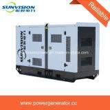 conjunto de generador de 125kVA Cummins 60Hz silencioso estupendo con el depósito de gasolina grande