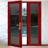 Двери входа самомоднейшего внешнего двойного качания стеклянные с алюминиевой рамкой