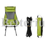 Neckrestの緑の折るキャンプチェアー