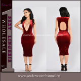 Mulheres New Fashion Sexy Bodycon Night Club Cocktail Dress (TBLSN303)