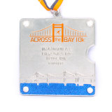 Medaglia di rame mezza personalizzata di maratona 5k 10k