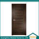 Porte en bois solide de placage avec le matériel