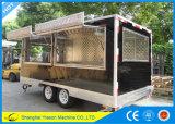 do caminhão móvel do alimento da alta qualidade de 4.5m reboque móvel da cozinha com placas de Dimond