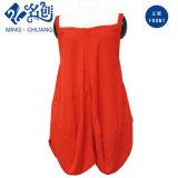 Одежда женщин платья выскальзования способа красных безрукавный свободных повелительниц сексуальная