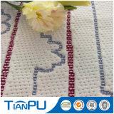 Ventes en gros 100% Polyester enduit PU tissu Jacquard pour protecteur de matelas