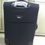 Sacchetto duro del carrello del tessuto pratico di Oxford, valigia nera su ordinazione dei bagagli di corsa con le rotelle