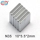 N52 2.5inch großes starkes Vierecks-permanenter gesinterter Neodym-Magnet für Motor