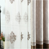 Rideau en guichet gravant en relief d'arrêt total de polyester classique (01F0006)