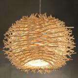 De binnen Decoratieve Lamp van de Tegenhanger van de Kroonluchter met Hout voor Restaurant