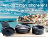HD 2 estupendos de cristal en 1 lente granangular de la macro de la lente 0.45X +12.5X