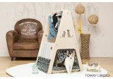Casa de cão de madeira da base Washable do animal de estimação com caso de indicador