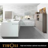 白くおよび黒いマットのペンキの食器棚はTivo-0272hをカスタム設計する
