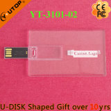 Vara transparente do USB do cartão de crédito do presente feito sob encomenda do logotipo (YT-3101-02)