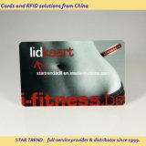 Cartão do membro da ginástica feito do plástico com listra magnética (ISO 7811)
