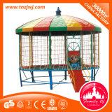 Kind-im Freiengymnastik-Spielplatz-Geräten-Trampoline mit Deckel