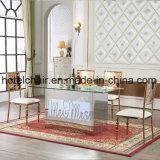 Mesa de comedor moderna redonda eléctrica de mármol de gran tamaño