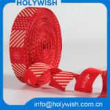 Ruban à base de satin rouge à double face avec design personnalisé