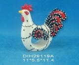 Anello di tovagliolo di ceramica dipinto a mano del gallo