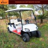 6 Seaterのゴルフコースおよびゴルフクラブ(後部バックフリップのシート)のための電気ゴルフカート