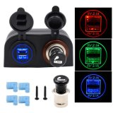 Dual 4.2A USB Charger 12V / 24V Cigarette Lighter Socket