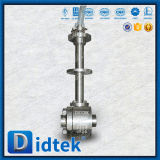 Didtekのバット溶接は長い茎が付いているステンレス鋼F316の球弁を造った