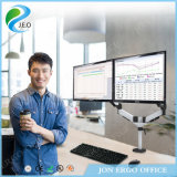 La altura de escritorio Ys-Ds324c ajustable de la pantalla doble de Jeo escoge el soporte del monitor