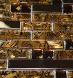 2017 nueva llegada mosaico de cristal mezclado de acero inoxidable para la decoración del hogar