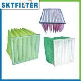 Filtro Pocket F6 da ATAC, filtro de saco G4 do filtro do bolso do filtro de ar F5 F6 F7 F8, filtro de saco do condicionamento de ar
