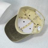 カスタム未構造化の6つのパネルの綿によって刺繍される野球帽