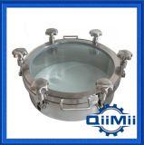 Крышка люка -лаза нержавеющей стали Ss304/Ss316L санитарного регулярно давления круглая