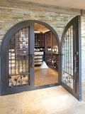 Porte simple de fer travaillé de cave de qualité moderne