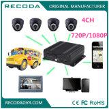 CCTV 4CH DVR móvil del híbrido H 264 Ahd con el G-Sensor vivo de la visión 3/4G WiFi GPS