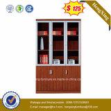 Mobiliário de escritório de gabinete de arquivo de portas de vidro de alumínio moderno 3 (HX-4FL008)