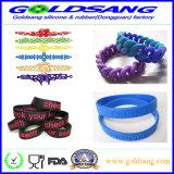 Braccialetto di gomma personalizzato promozionale del silicone della fascia della mano di marchio di alta qualità