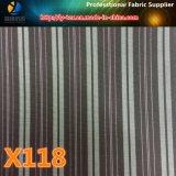 ジャケットのライニング(X118-120)のためのポリエステル縞の現金商品ファブリック