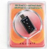 Adaptador de áudio estéreo USB 7.1 Placa de som externo