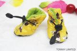 冬のビロード犬の雨靴防水ペット靴