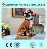 Estatuillas del perro del boxeador de la resina de la venta de la fábrica de interior y decoración al aire libre