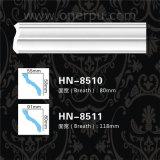 Corniche ordinaire de polyuréthane moulant la décoration Hn-8510 de plafond d'unité centrale