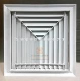 Aluminium 3 Verspreider van de Lucht van het Plafond van het Louvre van de Manier de Vierkante