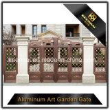 装飾的なカラー力の上塗を施してある金属のアルミニウム庭の前ドア