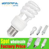 D'ampoule spiralée légère économiseuse d'énergie en gros d'économie d'énergie de lotus de lampe du tube DEL CFL de l'éclairage 2u/3u/4u pleine demi T3/T4/T5 d'usine