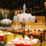 세륨 증명서를 가진 예술 Clound 중국 실크 백색 실크 실내 램프 펀던트 점화