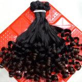 フィードバックの卸売の市場の安いFunmiの完全なバージンの人間の毛髪(QB-MVRH-LW)