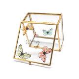 De Doos van de Gift van de Juwelen van het Kristal van het Glas van het Patroon van de Vlinder van de douane (jb-1061-11)