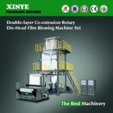 Máquina que sopla de Co-Extrudado de la película principal rotatoria de las capas dobles