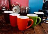 Tazas de cerámica del café sólo del tono creativo al por mayor 12oz dos